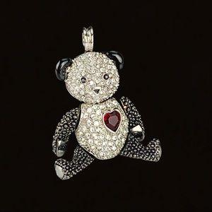 Pavé Swarovski Crystal Panda Bear Heart Key Chain